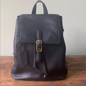 Leather Coach mini backpack